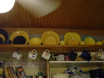 Kitchen ceiling/Fiestaware