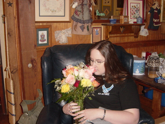 Beth and roses 3