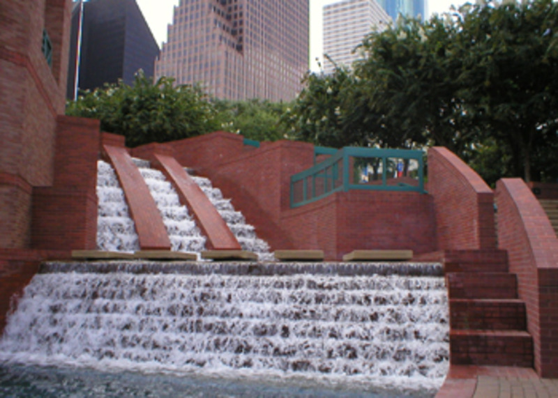 Waterfall at Sesquicentennial Park