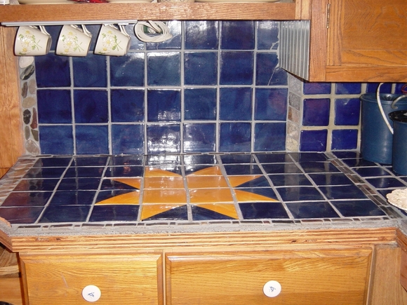 grouted counter