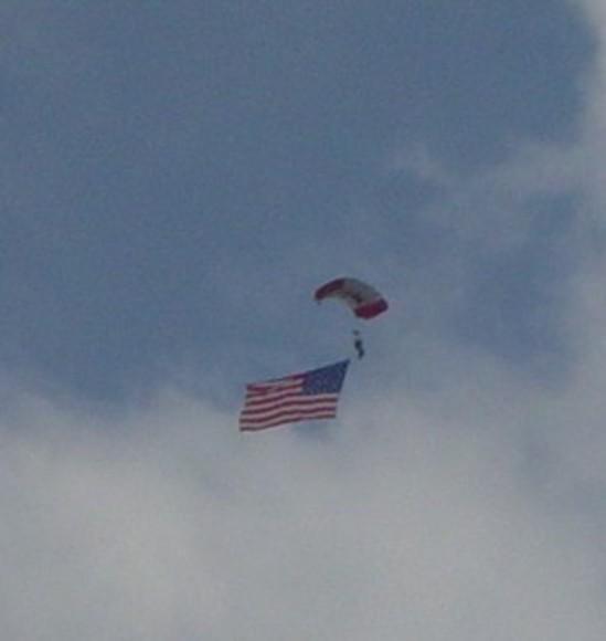 Sky diving team