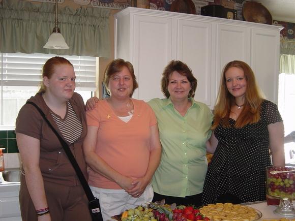 Kaithlyn, Jill, Krista, Becca
