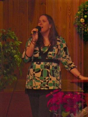 Bethany singing