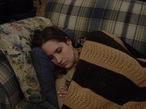 Beth sleeping 2004