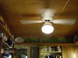 Kitchen ceiling/Depression glass