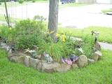 Rock flower bed 2005