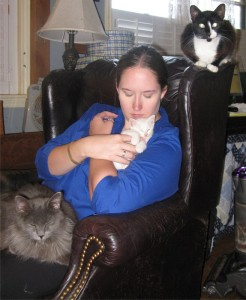 Beth and the cats