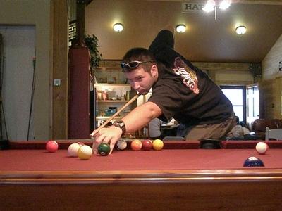 Brandon playing pool Sept 2006